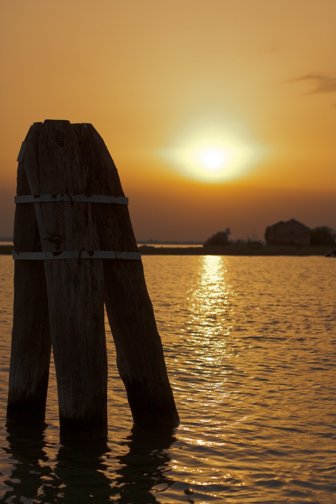 photographing the sunset of Venice