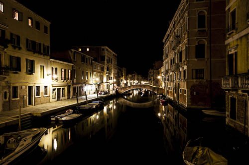 wounderful Venice setting shot by night