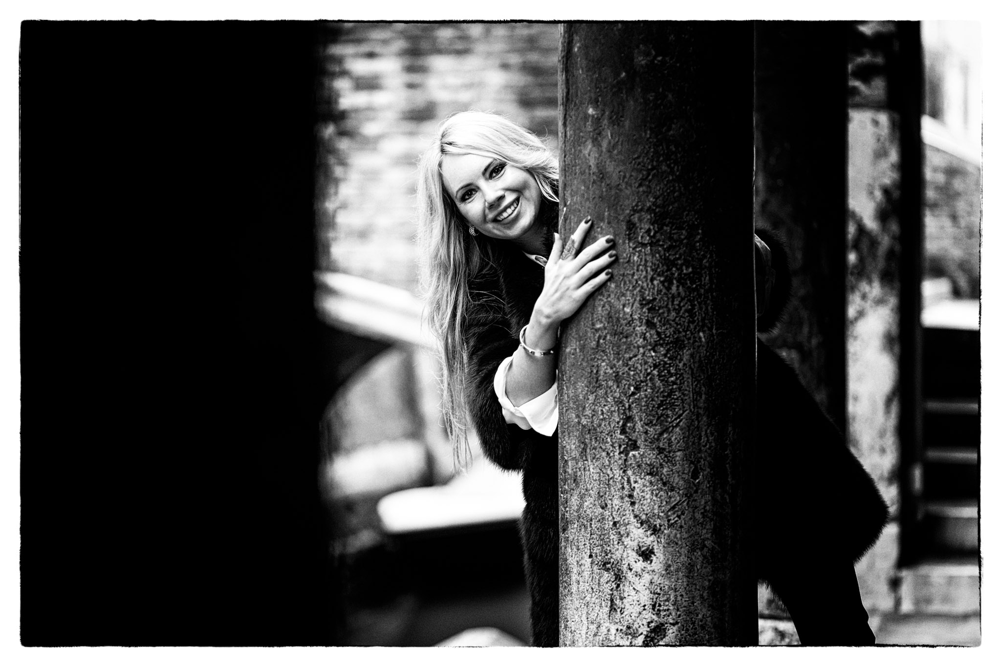 beautiful Russian lady posing for photo portrait in Venice